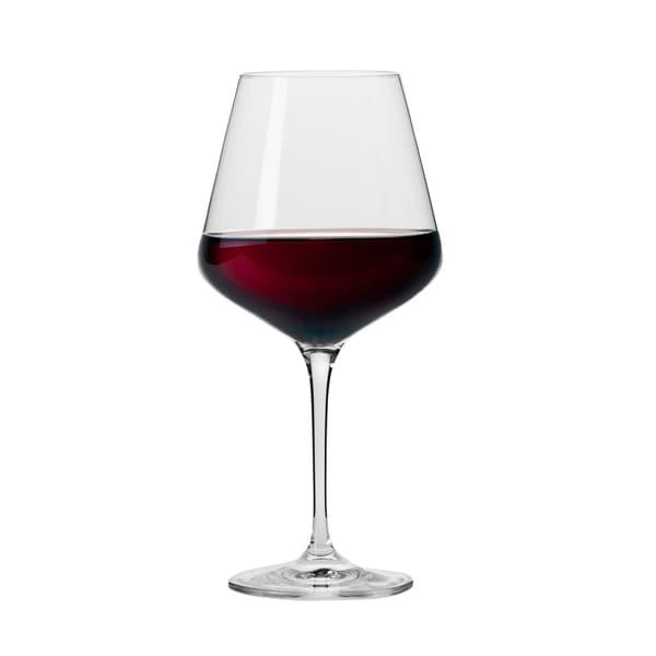 Krosno Hand-blown Vera Clear Wine Glasses (Set of 6)