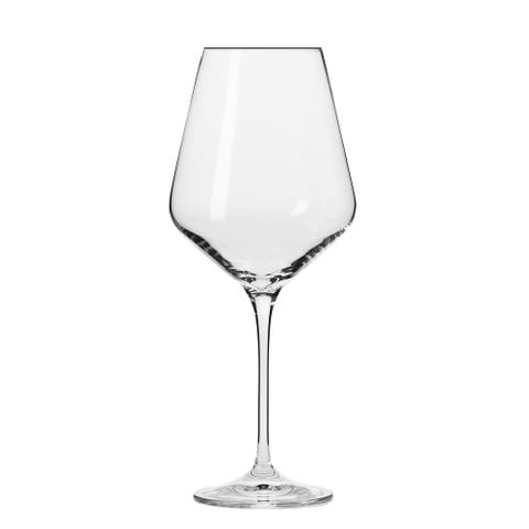 Krosno Hand-blown Vera Clear Wine Glasses (Set of 6)