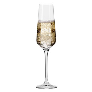 Krosno Hand-blown Vera 6-ounce Champagne Flutes (Pack of 6)