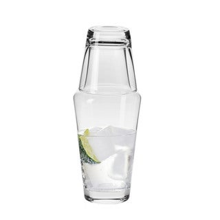 Krosno Handmade Clear Glass 16-ounce Hydro Bedside Water Carafe Set