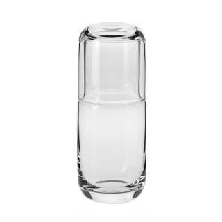 Krosno Quench Clear Glass 16-ounce Handmade Bedside Water Carafe Set