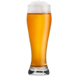 Krosno Bruno Clear Glass 18-ounce Wheat Beer Glasses (Set of 6)