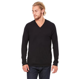 Unisex Big & Tall V-Neck Lightweight Sweater Black