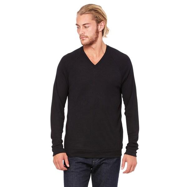 cf272e11d672 Shop Unisex Big & Tall V-Neck Lightweight Sweater Black - Free ...