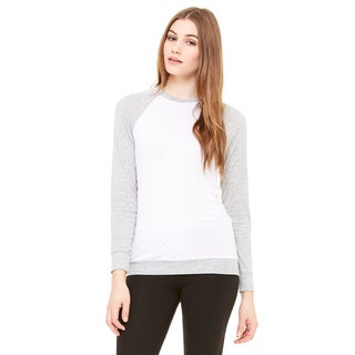 Unisex White/Heather Polyester/Viscose Big and Tall Lightweight Athletic Sweater (Size 2XL)