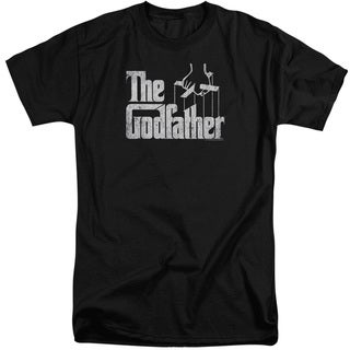 Godfather/Logo Short Sleeve Adult T-Shirt Tall in Black