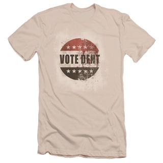 Arkham City/Vote Dent Short Sleeve Adult T-Shirt 30/1 in Cream
