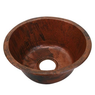Unikwities Sierra Fired Copper Finish Minweight 4-pound 3-ounce 17-inch Diameter Round Copper Sink