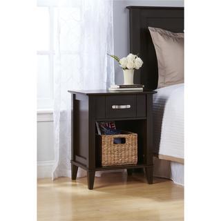 altra quinn espresso nightstand