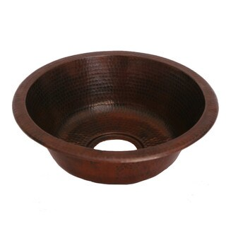 Unikwities 15 X 5 inch Round Drop In Copper Sink in Bronze Finish