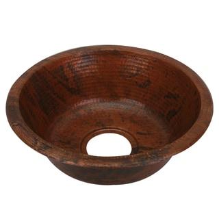 Unikwities Sierra Fired Copper Finish 15 x 5-inch Round Minweight 3 lb. 4 oz. Copper Sink