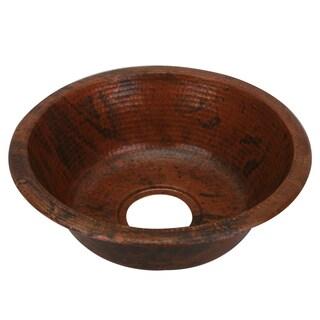 Unikwities Sierra Fired Copper Finish 15 x 5-inch Round Min. Weight 3 lb. 4 oz. Hand-hammered Undermount Sink