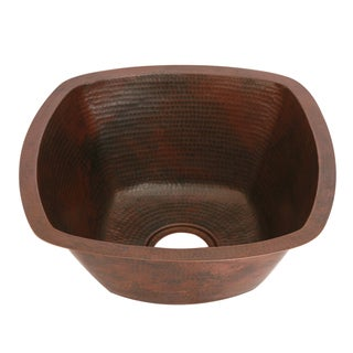 Unikwities 18 x 18 x 8-inch Square 6 lb. Minimum Weight Undermount Copper Sink With Oil Rubbed Bronze Finish