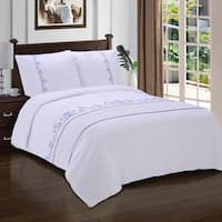 Superior Sofia Premium Cotton Sateen Embroidered Duvet Set