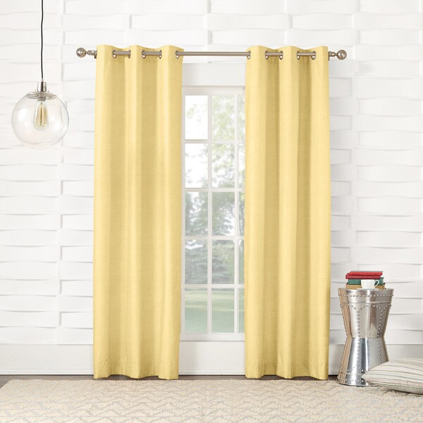 Sun Zero Thompson Lined Rod Pocket Window Curtain Panel