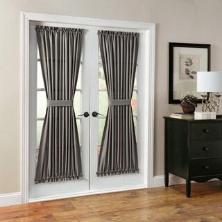 Montego Woven Brown/Grey/White Patio Door Curtain Panel