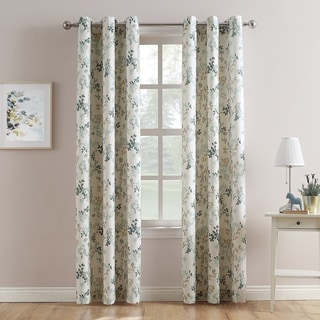 No. 918 Marra Woven Print Grommet Top Curtain Panel