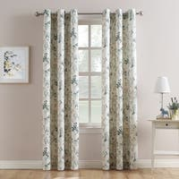 No. 918 Marra Woven Print Grommet Top Curtain Panel