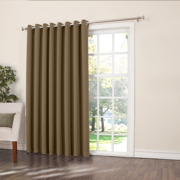 Sun Zero Galia Extra Wide Patio Door Curtain Panel