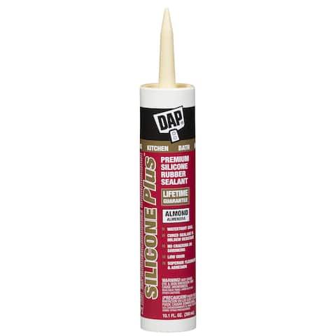 Dap 08785 10.1 Oz Almond Silicone Plus Silicone Rubber Sealant