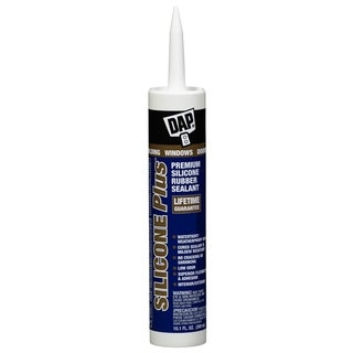 Dap 08780 10.1 Oz White Silicone Plus Premium Silicone Rubber Sealant