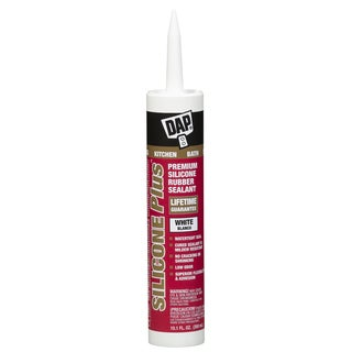 Dap 08770 10.1 Oz White Silicone Plus Silicone Rubber Sealant
