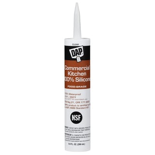 Dap 08658 9.8 Oz Clear 100% Silicone Commercial Kitchen Sealant