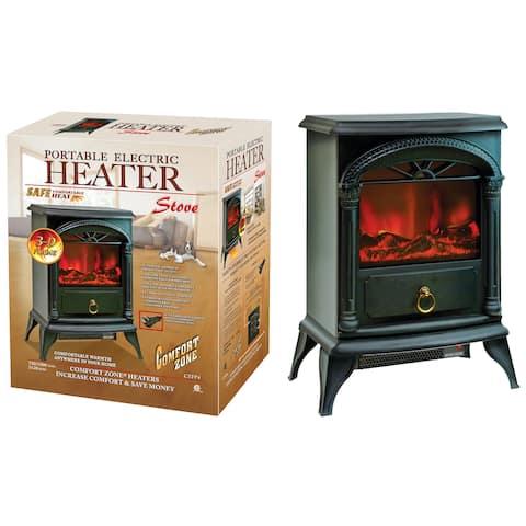 Comfort Zone CZFP4 750/1500 Watt Electric Fireplace Heater