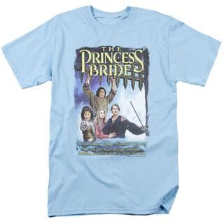 Princess Bride/Alt Poster Short Sleeve Adult T-Shirt 18/1 in Light Blue
