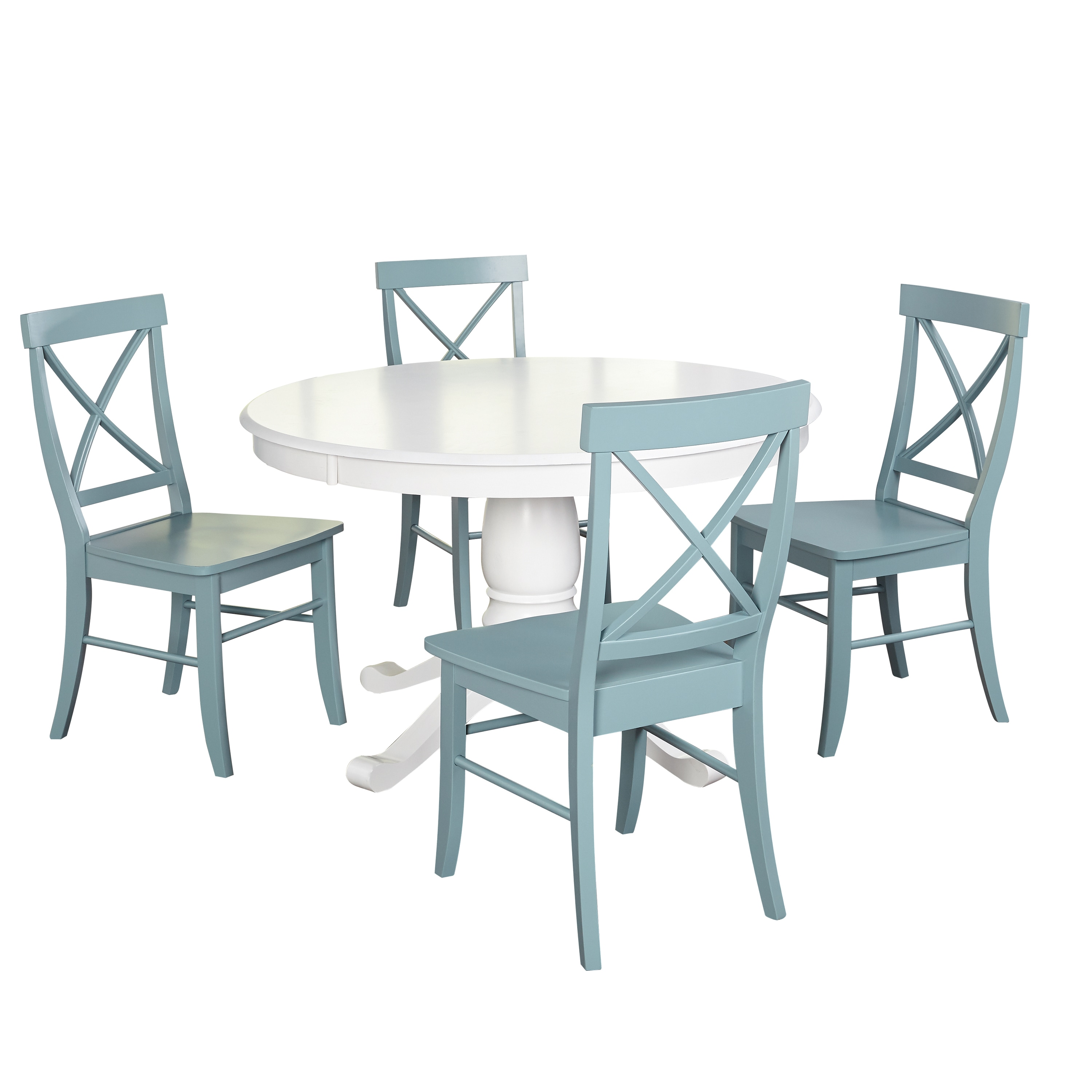 Simple Living 5 Piece Dawson Dining Set On Sale Overstock 12432886 White Grey
