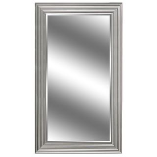 Silver Woodgrain Mirror 71 x 37-inch Mirror