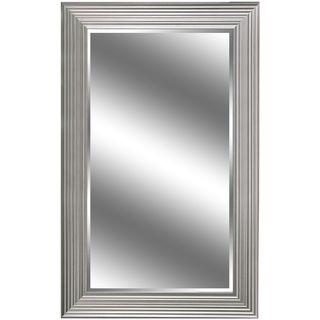 Y-Decor Silver-colored 60-inch x 37-inch Woodgrain-framed Mirror