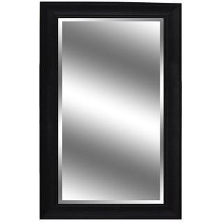 Y-Decor 60-inch x 37-inch Dark Espresso-colored Woodgrain-framed Mirror