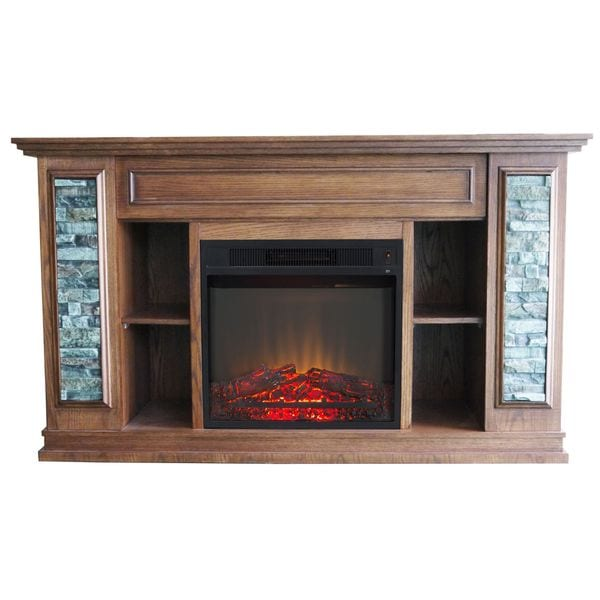 Boston stone electric fireplace free shipping today overstock boston stone electric fireplace teraionfo