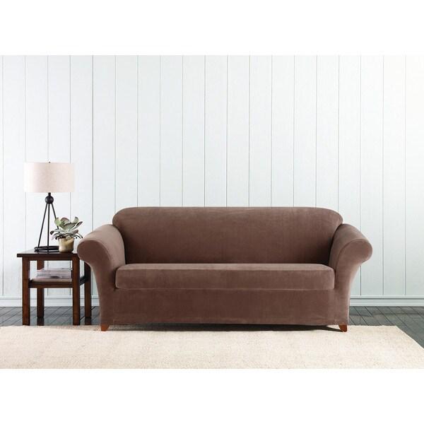 Sure Fit Stretch 3 Piece Corduroy Sofa Cover Free