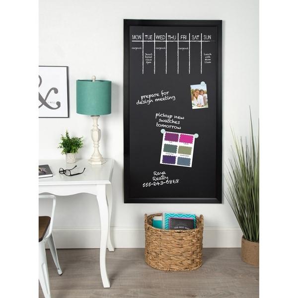 Designovation Beatrice Wood Framed Magnetic Chalkboard - 30x55