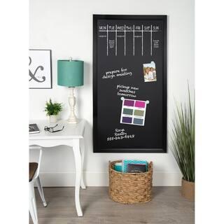 Designovation Beatrice Wood Framed Magnetic Chalkboard 30x55