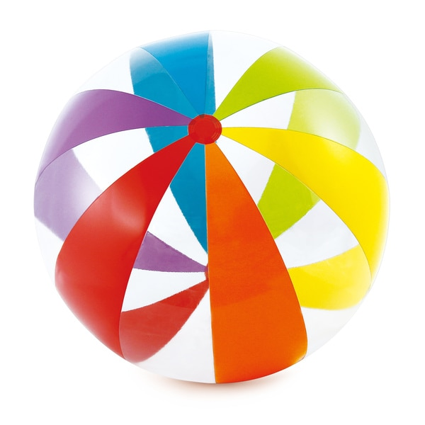Multicolored Transparent Jumbo Beach Ball