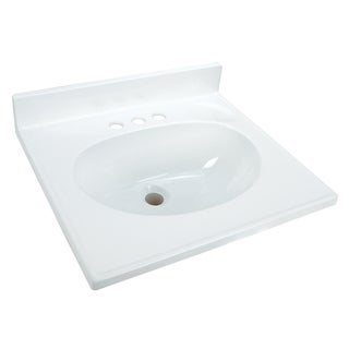 "Hardware House 365981 37"" X 22"" Solid White Cultured Marble Vanity Top"