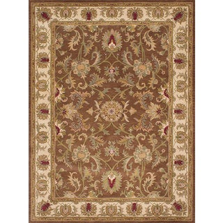 Ecarpetgallery Savonnerie HT Brown Wool Rug (8' x 8')