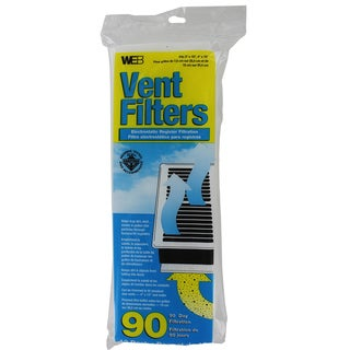 "Web Products WVENT 4"" x 12"" Floor Register Vent Filter 12-count"