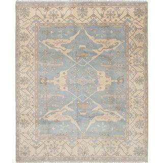 Ecarpetgallery Hand-knotted Royal Ushak Blue Wool Rug (8'2 x 9'10)