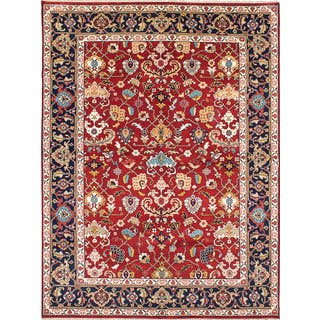 Ecarpetgallery Hand Knotted Serapi Heritage Red Wool Rug 9 X 11 10