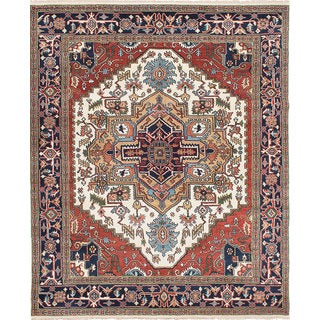 Ecarpetgallery Hand-knotted Serapi Heritage Brown, Ivory Wool Rug (8' x 9'9)