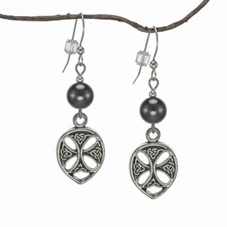 Jewelry by Dawn Hematite Pewter Celtic Teardrop Earrings
