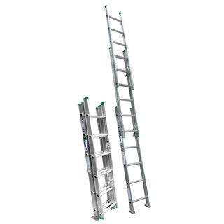 Werner D1216-3 16' Aluminum Type II Compact Extension Ladder