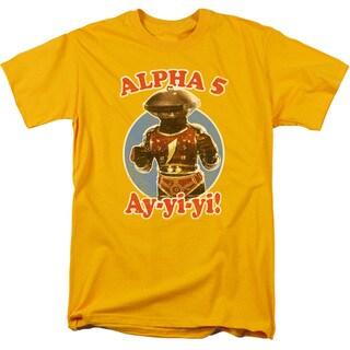Power Rangers/Alpha 5 Short Sleeve Adult T-Shirt 18/1 in Gold
