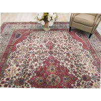 Hand-knotted Wool Beige Traditional Oriental Lavar Rug (10'1 x 13'1)