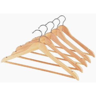 Whitmor 6026-340 Wood Suit Hanger w/ Bar