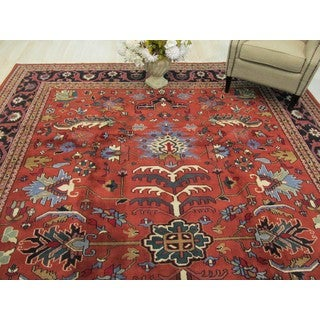 EORC Hand Knotted Wool Rust Mahal Rug (10'1 x 14'2)